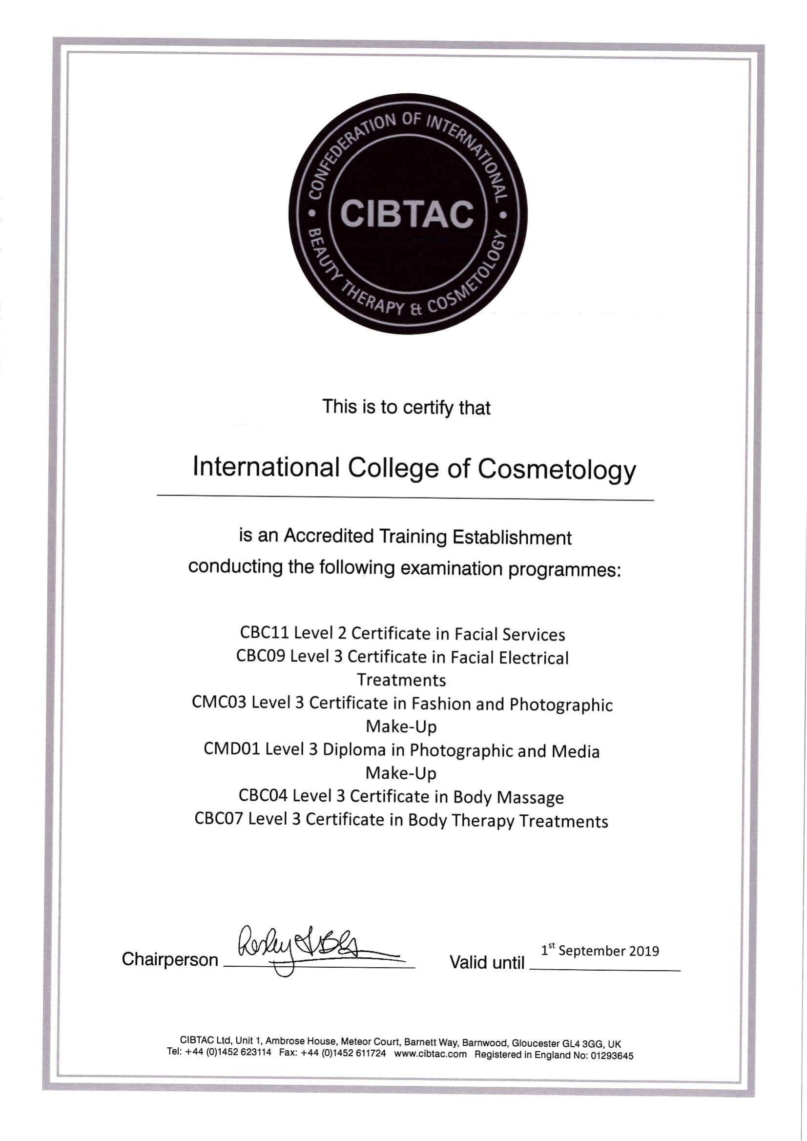 CIBTAC – Starptautiskā Kosmetoloģijas koledža